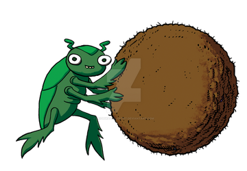 Dung Beetle 02 by LeighWalls-Artist