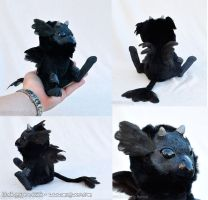Black Gryphon Fledgeling by Magweno