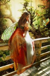 Leaf Catcher Fairy by SweetDreamsArt