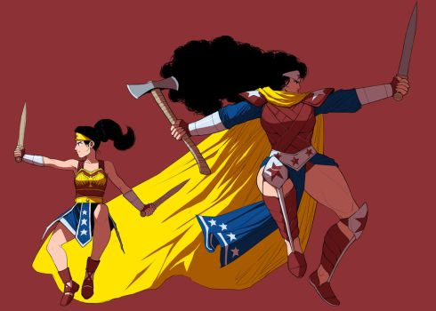 Hippolyta and Diana by ExMile
