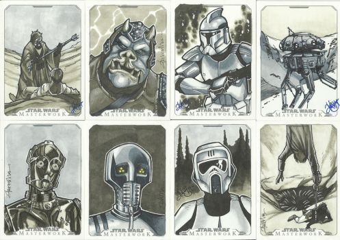 Topps Star Wars Masterwork Sketch Cards 2 by WISHKER