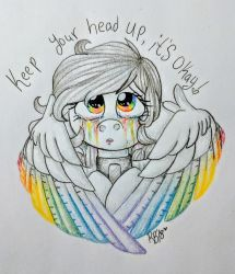 Keep Your Head Up by RoseFeatherArt