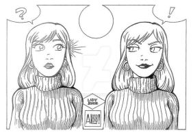 Ladyjenise Twins in Sweaters Inked by AL-818