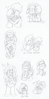 New style doodles (south park) by Kitshime-SP
