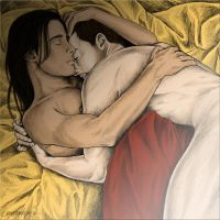A Nagron Cuddle Colored by crazzzedope