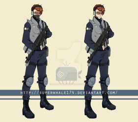 Male Cop Character by superwhale174