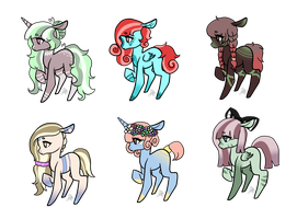 More Adopts (Open 1/6) 150 Each by WolfeSatan