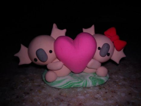 Clay Koala Heart by hoppy9046