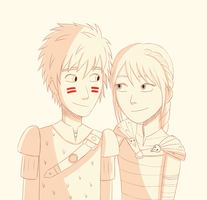 Hiccup and Astrid by froste-art