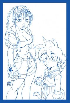 BULMA and GOKU by chilin by thedragonballsociety
