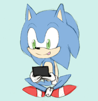 Look, it's Sonic again by Lumivyory