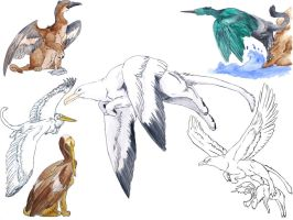 Gryphon Paintings III by SargassosArt