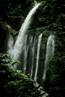 Sendang Gile Waterfall by Xavi3r89