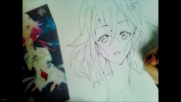 [Guilty Crown] Drawing Inori Yuzuhira Watch video! by Helly-Chan135