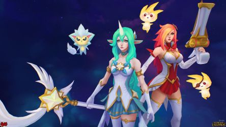 Star Guardian Miss Fortune and Soraka Close Up by YBourykina