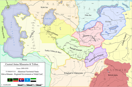 Central Asian Khanates and Tribes by zalezsky
