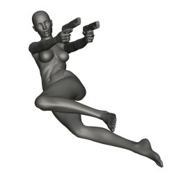 Female Gun Reference 2 by posevault