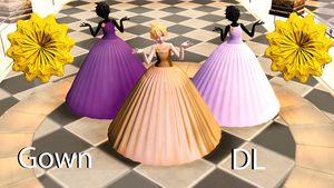 Ball gown [ Pmx + Pmd downloads ] by cat-tom-boy