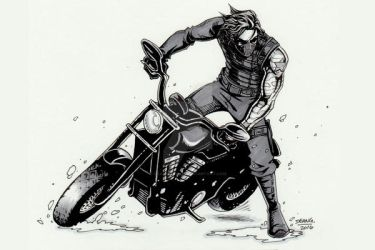 Winter Soldier motorcycle by DeanGrayson