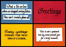 Postcard 4-pack: Letter Quotes by Itti