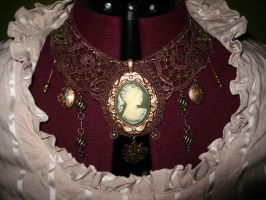 steampunk dress: necklace by ToddryElliott