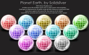 Colourful globes by SolidSilver