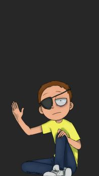 ScreenLock Evil Morty by Gidan-Kuroki