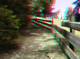 The Pathway 3D Anaglyph by yellowishhaze