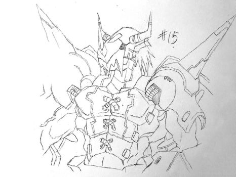 Digimon Sketch Challenge Day #15 by Omnimon1996