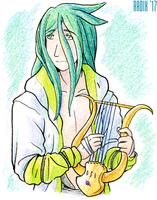 Enkidu with lyre by General-RADIX