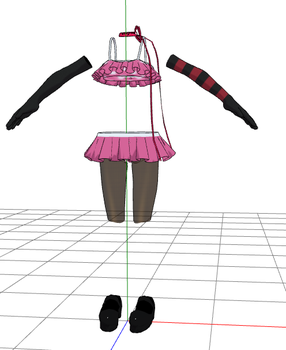 MMD- Frilly Skirt Set -DOWNLOA by MMDFakewings18