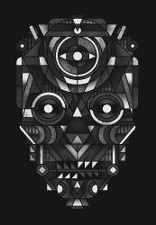 GEOMETRIC SKULL by dzeri