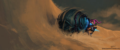 Guild Wars 2 - Drifting over the sand by knight-mj