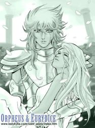 Orpheus and Eurydice by ladykylie
