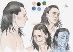Loki (colored sketch) by LadyMintLeaf