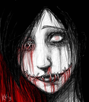 MY SEWN UP SCREAM by sickdelusion
