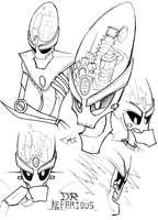 Nefarious doodles by Strixic