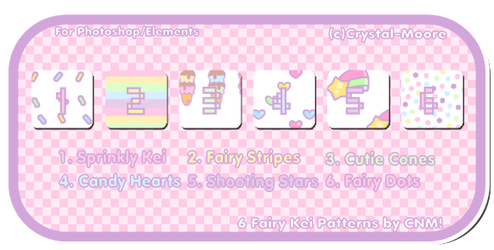6 Fairy Kei Patterns by CNM by Crystal-Moore