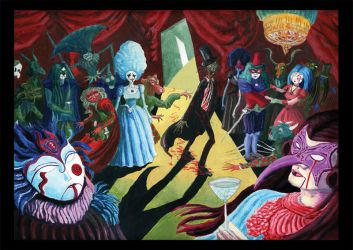 The Masque of the Red Death, by Edgar Allan Poe by theLethalRabbit