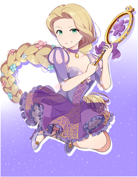 Rapunzel (magical girl form) by Sunnypoppy