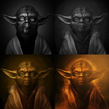Yoda - Process by PhotoshopIsMyKung-Fu