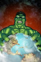 Hulk: Planet Hulk cover by SotoColor