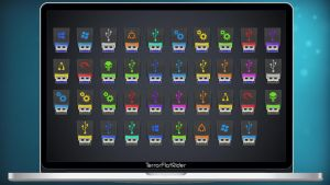 USB MultiColor Icons by TerrorFlatRider