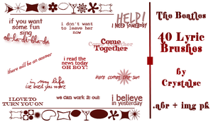 40 Beatles Lyric Brushes by crystalsc