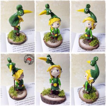 Link Minish Cap Figure from Fimo by oOMetalbrideOo