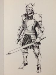 Inktober Day 25 - Ornate Knight by OniRuu