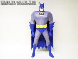 Batman The Animated Series papercraft model by ninjatoespapercraft