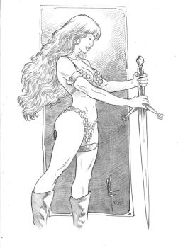 Red Sonja by marciofernandes