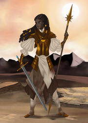 Paladin of Gold and Sand by Moryartix