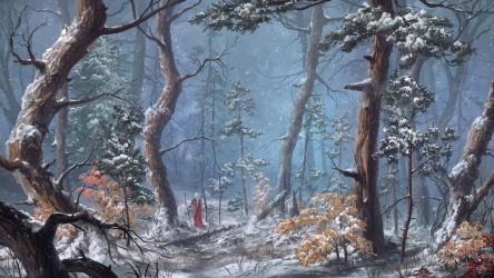 Snow Forest by ReFiend